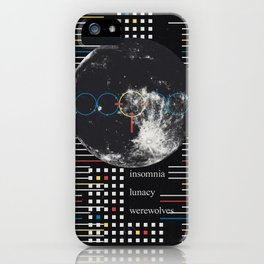 Full Moon. Insomnia. Lunacy. Werewolves iPhone Case