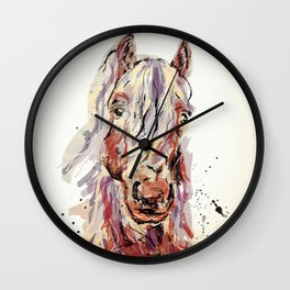 Sepia horse Wall Clock