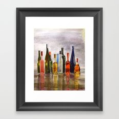 Bottles, oh Bottles! Framed Art Print