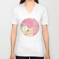 books V-neck T-shirts featuring BOOKS by INA FineArt