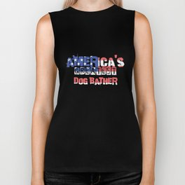 America's Greatest Dog Bather Biker Tank