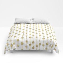 Raining Gold Glitter Confetti - Luxury golden design Comforters