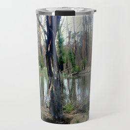 Reflecting after a bush Fire Travel Mug