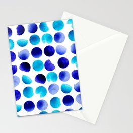 Watercolor round Stationery Cards