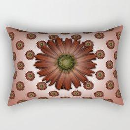 """""""Big Red Daisy, (pattern)"""" Rectangular Pillow"""