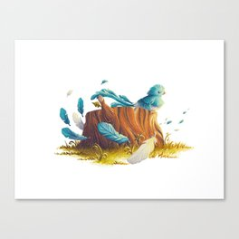 Bird in the wind Canvas Print