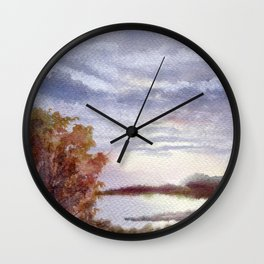 Autumn Light Wall Clock