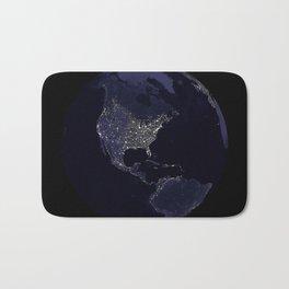 Earth Globe Lights Bath Mat