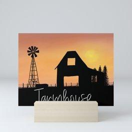 Farmhouse Silouhette Mini Art Print