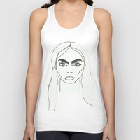 cara delevingne Tank Tops featuring Cara delevingne by Mary Naylor