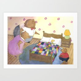 Goldilocks Caught Sleeping Art Print