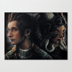 Balthier and Fran Final Fantasy 12 Portraits Canvas Print