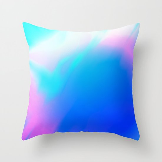 Pastel Vortex Throw Pillow