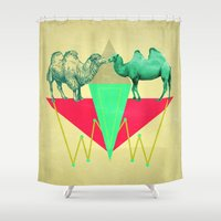 camel Shower Curtains featuring Camel Kiss by AmDuf