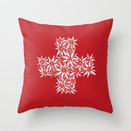 Swiss Edelweiss Throw Pillow