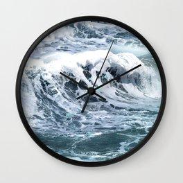 Blue Sea Ocean Waves Wall Clock
