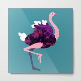 O is an Ostrich Metal Print