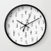 teeth Wall Clocks featuring teeth by singingsaw