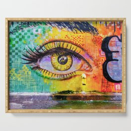 Graffiti Crying Eye Serving Tray