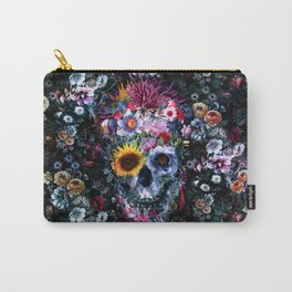 Voodoo Skull Floral Carry-All Pouch