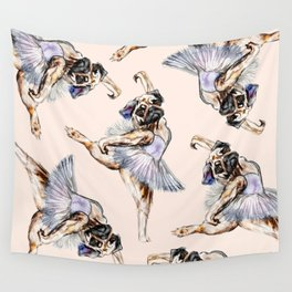 Pug Ballerina in Dog Ballet | Swan Lake  Wall Tapestry