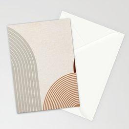 Mid Century Line Art V Stationery Cards