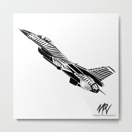 Fighting Falcon Metal Print