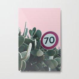 Cactus Route Metal Print