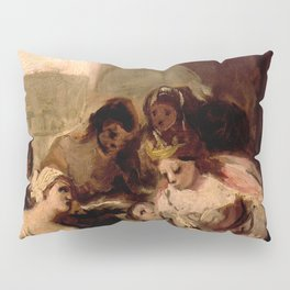 """Francisco Goya """"Saint Isabel of Portugal Healing the Wounds of a Sick Woman"""" Pillow Sham"""