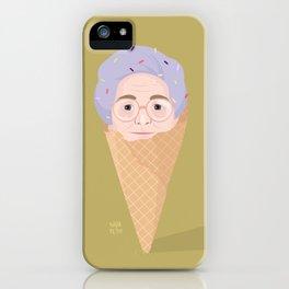 Granny icecream iPhone Case