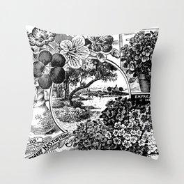 Childs' Dwarf Nasturtiums 1895 Throw Pillow