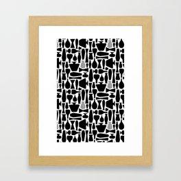 Black Vases Framed Art Print