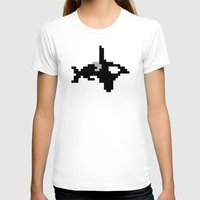 8 bit T-shirts featuring 8-bit Orca by Ria Pi