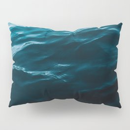 Minimalist blue water surface texture - oceanscape Pillow Sham