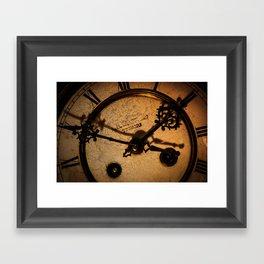 The Clock The Time  Framed Art Print