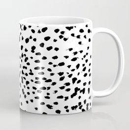 Nadia - Black and White, Animal Print, Dalmatian Spot, Spots, Dots, BW Coffee Mug