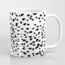Nadia - Black and White, Animal Print, Dalmatian Spot, Spots, Dots, BW Coffee Mug