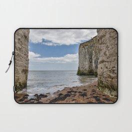 White Framed Cliffs - Botany Bay, England Laptop Sleeve