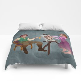 Tangled - Rapunzel Short Brown Hair and Flynn Rider Comforters