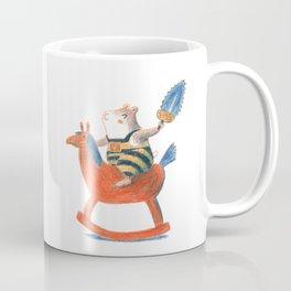 Always a child at heart - cute hamster on playhorse Coffee Mug