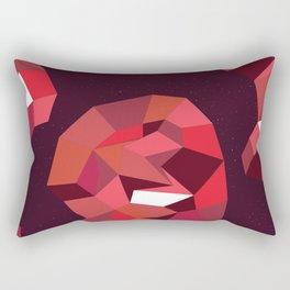 Geometric Reds  Rectangular Pillow