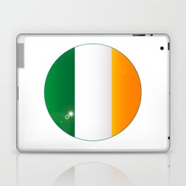 Irish Flag Button Laptop & iPad Skin