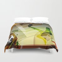 soccer Duvet Covers featuring Soccer by Robin Curtiss