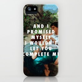 Henryk Siemiradzki, Conversation (1883) / Halsey, Is There Somewhere (2014) iPhone Case