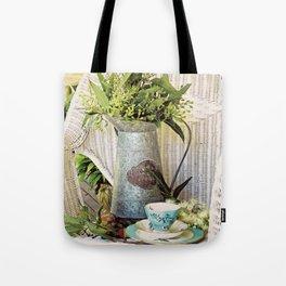 Tea On The Verandah Tote Bag