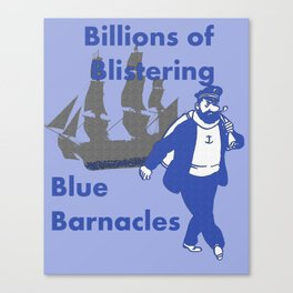Blue Barnacles Canvas Print