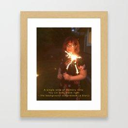 A Single Strip of Memory Rolls Framed Art Print