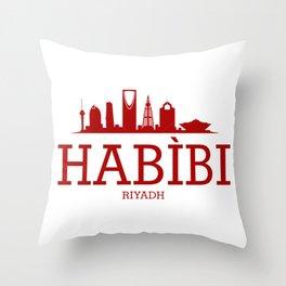 Habibi Riyadh Throw Pillow