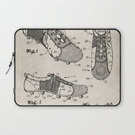 Soccer Boots Patent - Football Boots Art - Antique Laptop Sleeve
