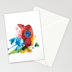 colorful butterfly - 2 Stationery Cards